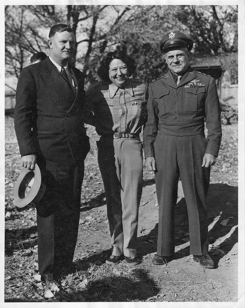 Cecil Meadows, General Jimmy Doolittle, and Pancho Barnes