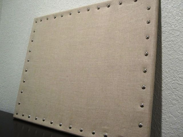 That 39 s a much prettier cork board burlap linen or any for Linen cork board