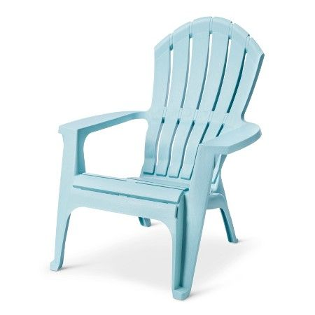 Realcomfort Resin Outdoor Adirondack Chair Blue Adams Target
