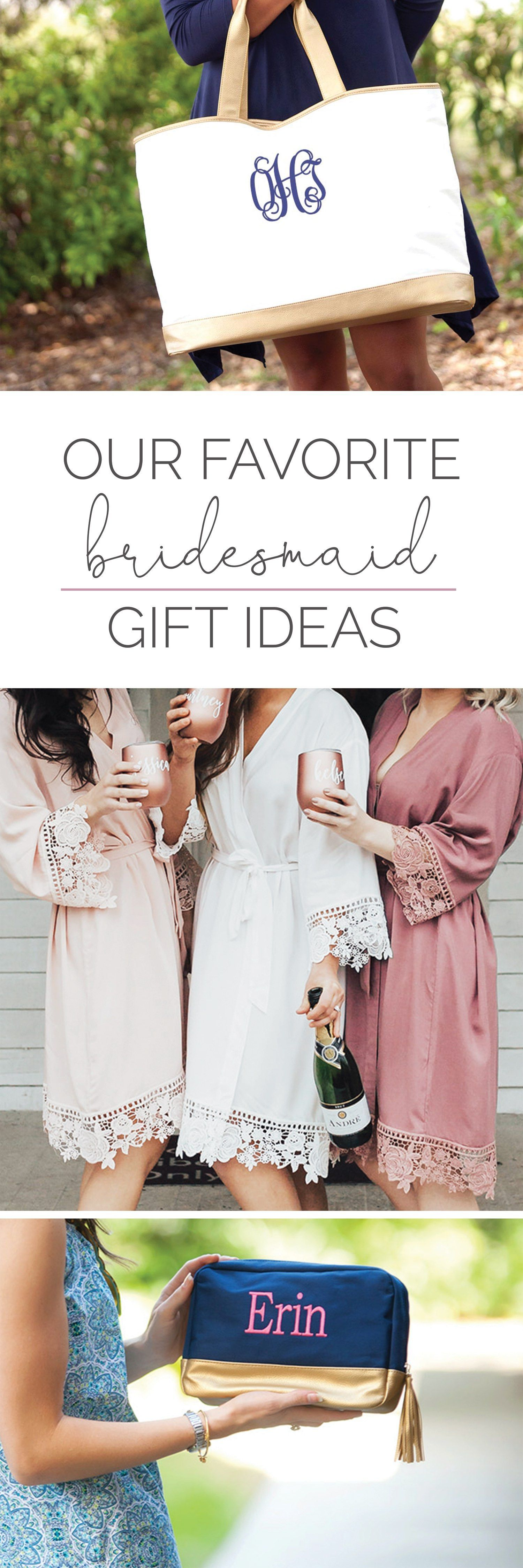 26edcb2ed49 Looking for a great way to show love to your bridesmaids  Check out our best-selling  lace robes and personalized canvas totes   makeup bags!