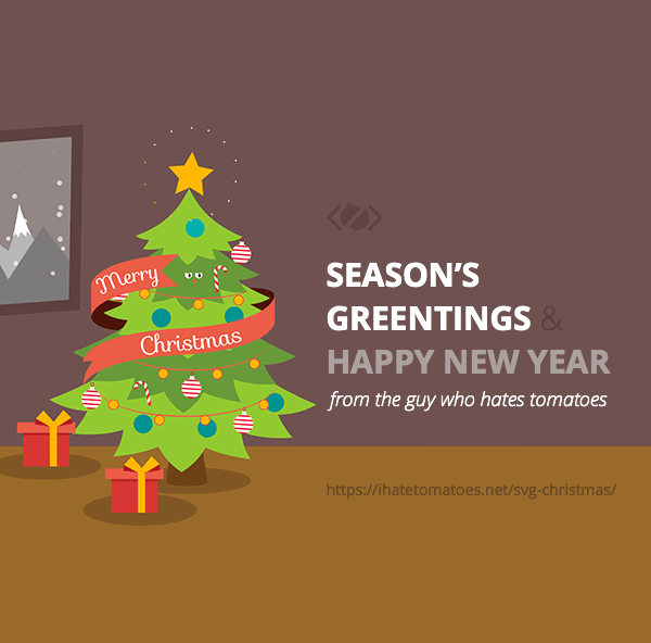 Merry Svg Christmas And Happy New Year Animated Christmas Card Svg Animation Animated Christmas