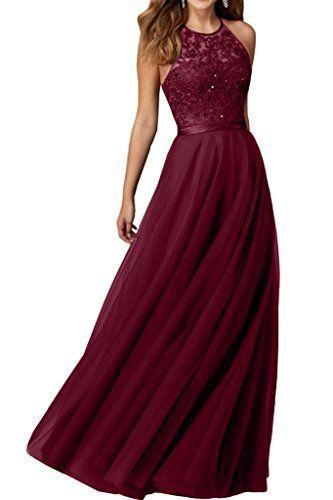 Abendkleid rot mit tull