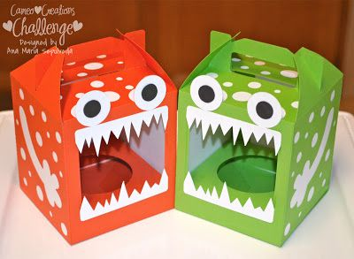 Monster cupcake boxes