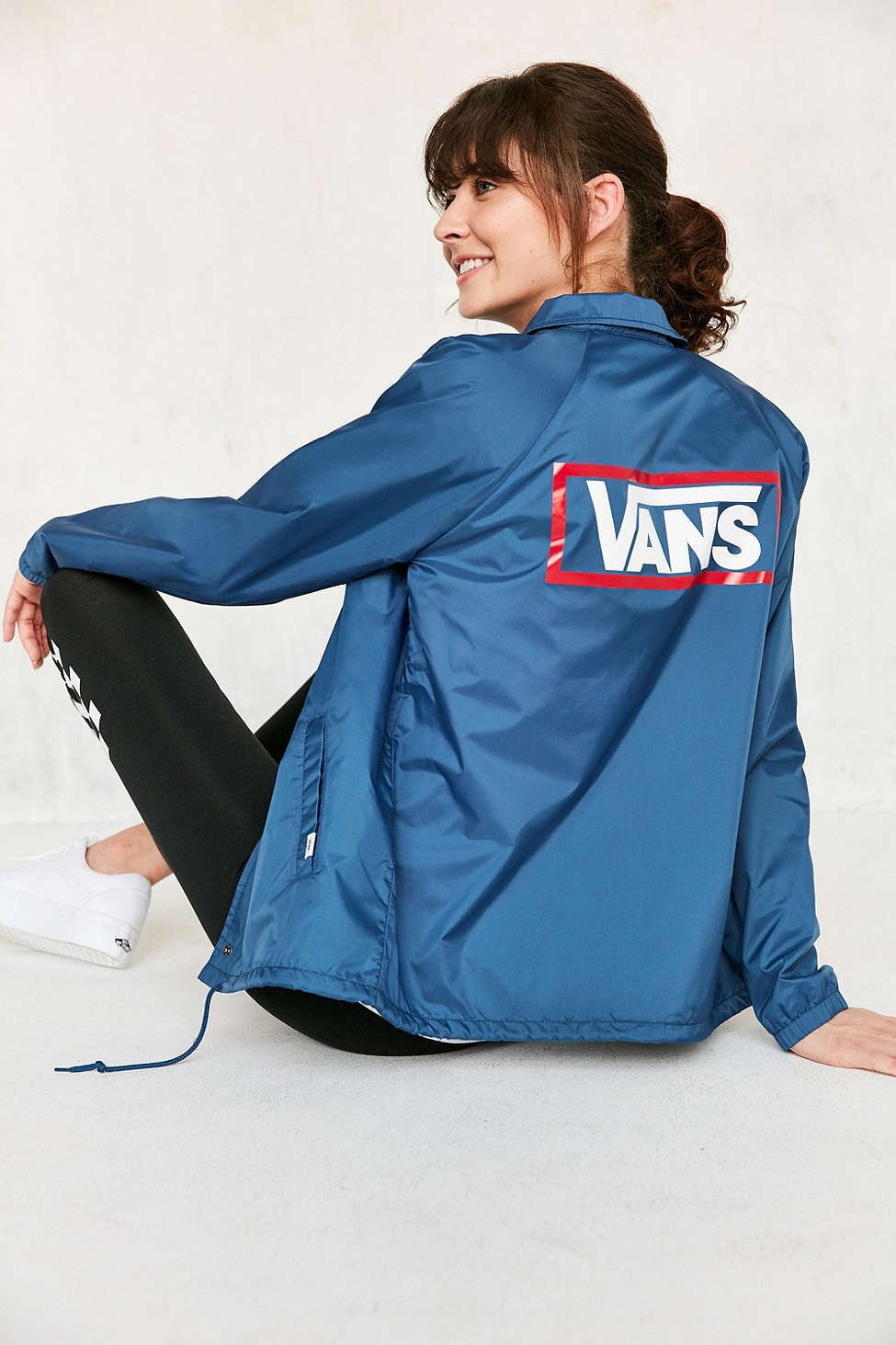 Vans Uo Blue Coach Jacket Uo Clothing Jackets Vans Jacket Vans