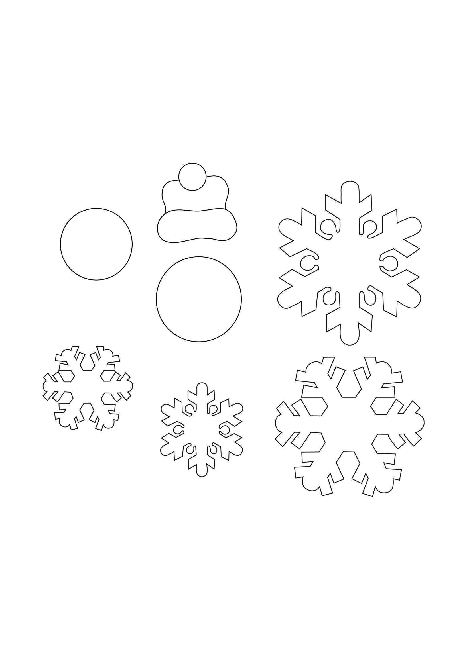 Simit Kapı Süsü Kardan Adam Boyama Sayfaları Kardan Adam Kar