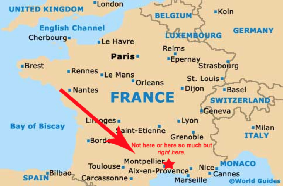 Montpellier France Map Montpellier France Map France 2015