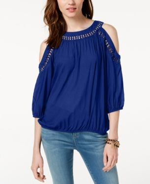 592431d1e618bd I.N.C. Cold-Shoulder Top, Created for Macy's in 2019 | Products ...