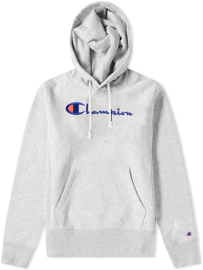 CHAMPION Comfort Fit Sweatshirt mit Logo Print in Weiß