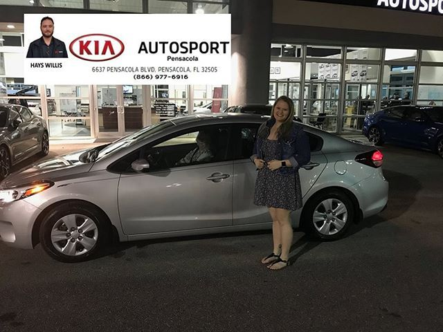 Hays Willis And KIA AutoSport Of Pensacola Would Like To Thank Ms. Destiny  Coy For The Purchase Of Her BRAND NEW 2018 KIA Forte!! We Know You Will U2026