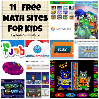 11 Free Math Sites for Kids #freereadingincsites