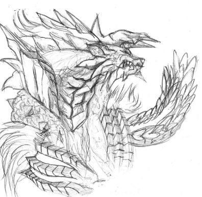 monster hunter zignore coloring pages
