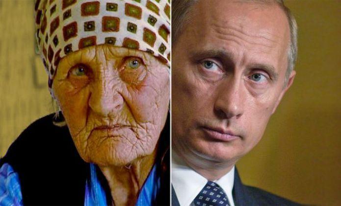 Vera Putina, 89, Landmaschinen-Mechanikerin. Wladimir Putin, 62, Staatspräsident