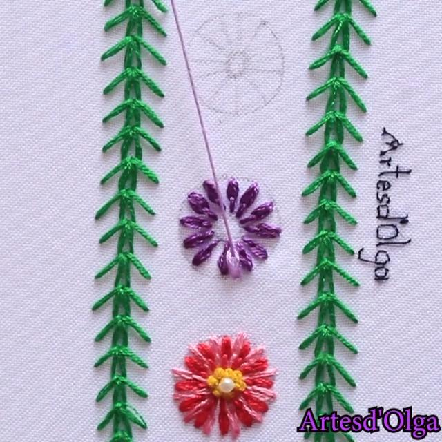 En este tutorial te muestro cómo bordar puntadas decorativas. (Tutorial No.13).  . . . . #artesdeolga #artesdolga #bordado #bordados #diy #embroidery #decorative #stitches