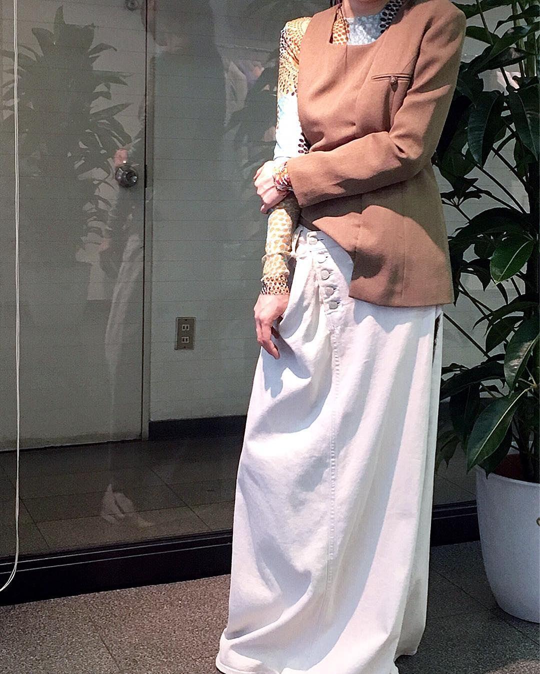 展示会スタイリング インナー:kotohayokozawa トップス:HIDAKA スカート:kotohayokozawa  #kotohayokozawa #HIDAKA by kotohayokozawa