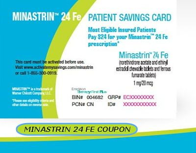 What Is Minastrin 24 Fe Patient Savings Card Print Free Minastrin