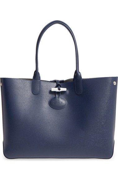 Longchamp 'Roseau' Reversible Leather Tote | Nordstrom | Longchamp ...
