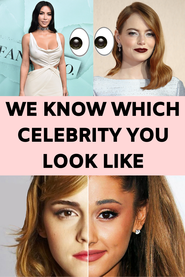 We Know Which Celebrity You Look Like Celebrity Look Alike My Celebrity Look Alike Celebrities Funny