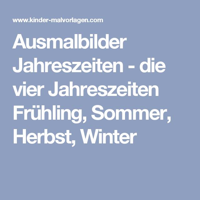 Ausmalbilder Jahreszeiten - die vier Jahreszeiten Frühling, Sommer ...