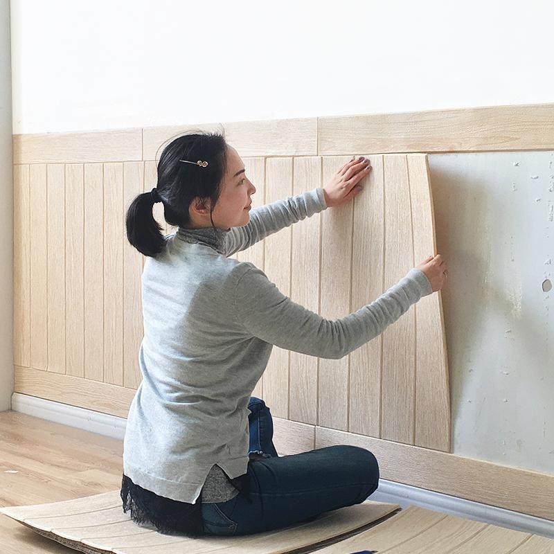 3d Wood Paper Stereo Wall Skirt Wallpaper Wallpaper Living Room Room Wallpaper Wood Wallpaper