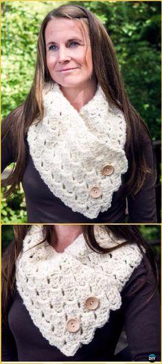 Crochet Infinity Scarf Cowl Neck Warmer Free Patterns | Crochet ...