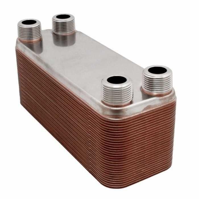 Everhot Bt4x12 50 4 1 4 X 12 Brazed Plate Heat Exchanger 50 Plate 1 In 2020 Heat Exchanger Hydronic Heating Radiant Floor Heating
