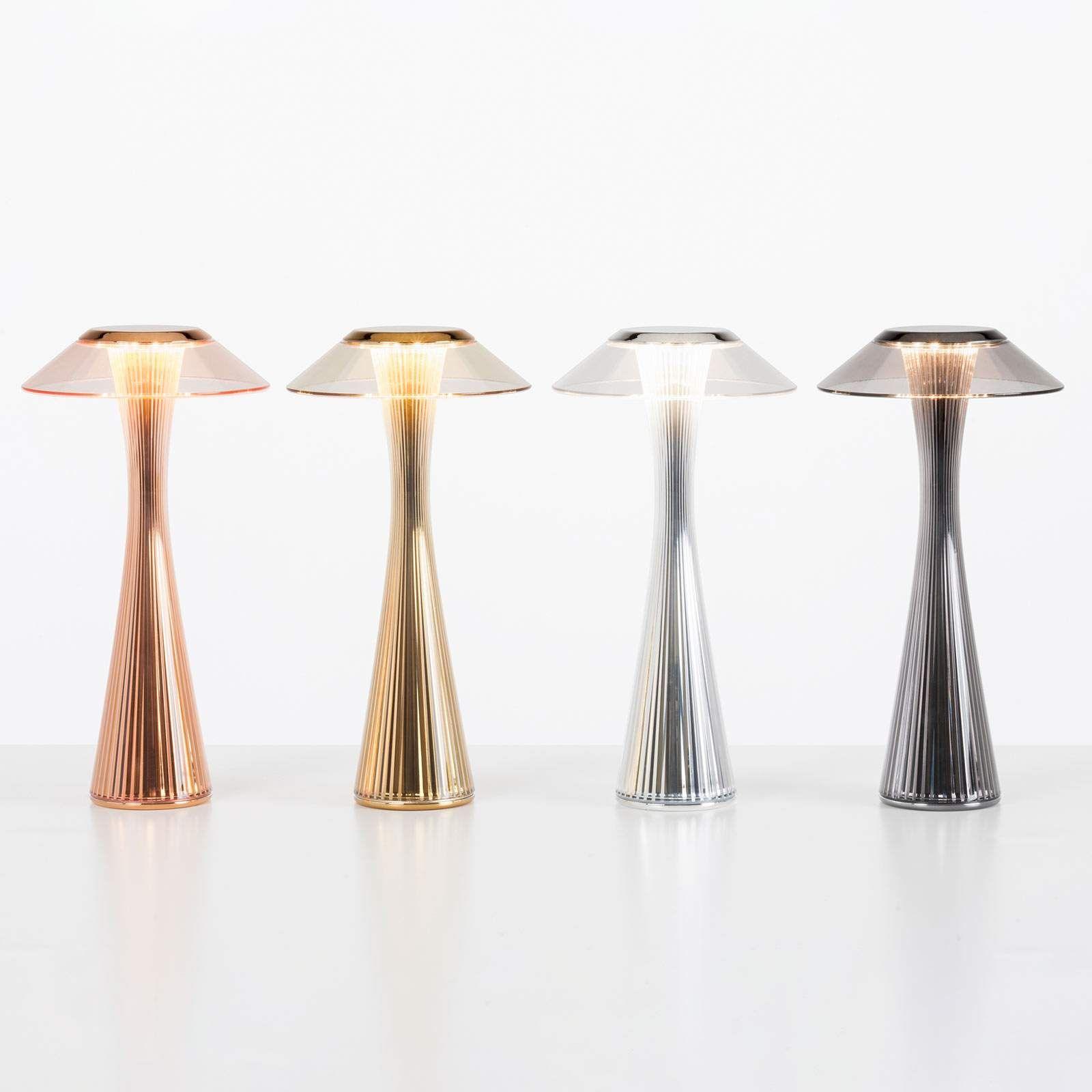 Kartell Space Led Designer Tischleuchte Chrom Led Tischleuchte Tischleuchte Und Led