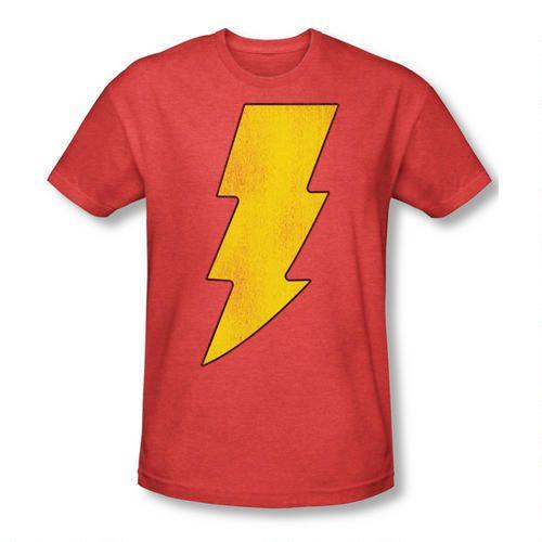 6b4bc1a8 Shazam! Logo Distressed Heather T-shirt | Superheroes | Captain ...