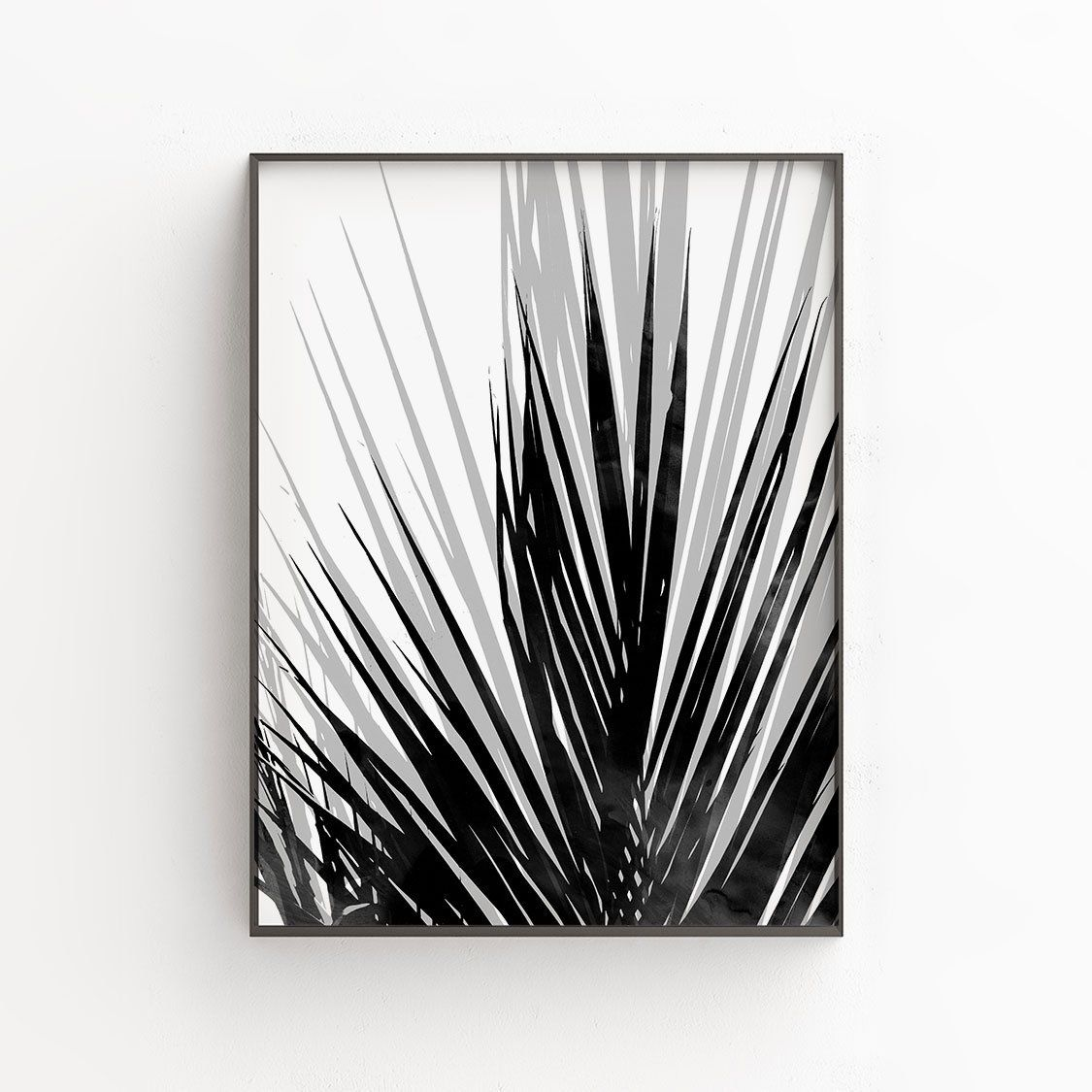 7f1d499235 Palm Leaf Printable Art in Black and White, Tropical Home Decor, Instant  Downloadable Prints by GalleryJ9 on Etsy