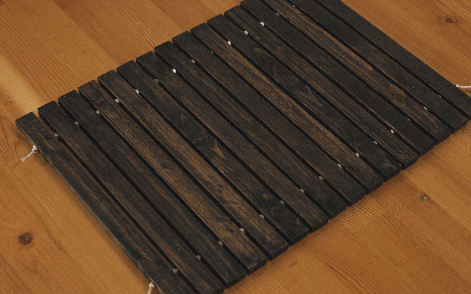 How To Make A Diy Wood Stake Door Mat Diy Wood Floors Wood Stake Wood Diy