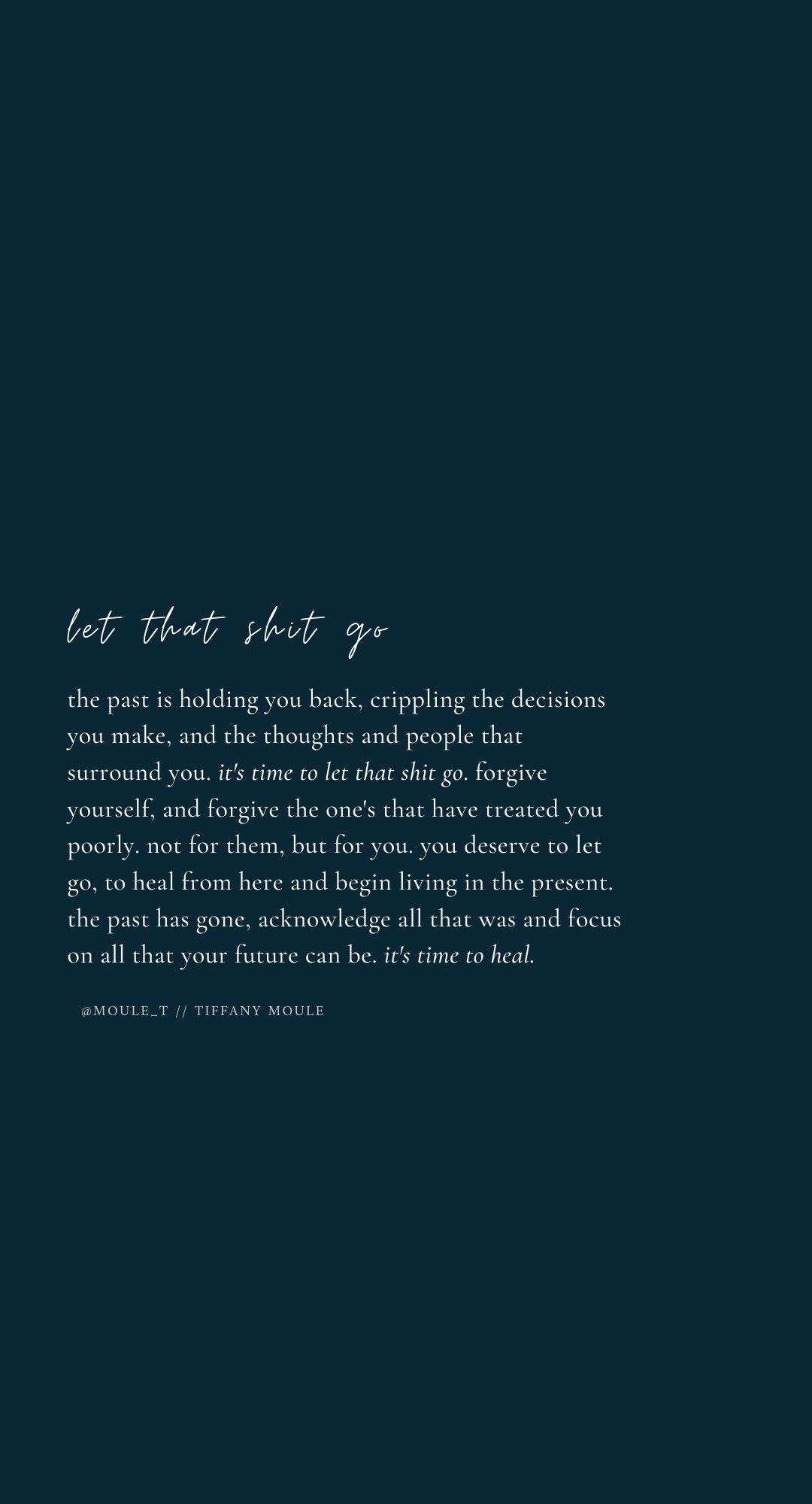 Let that shit go #heal #grow | growth quote | self care
