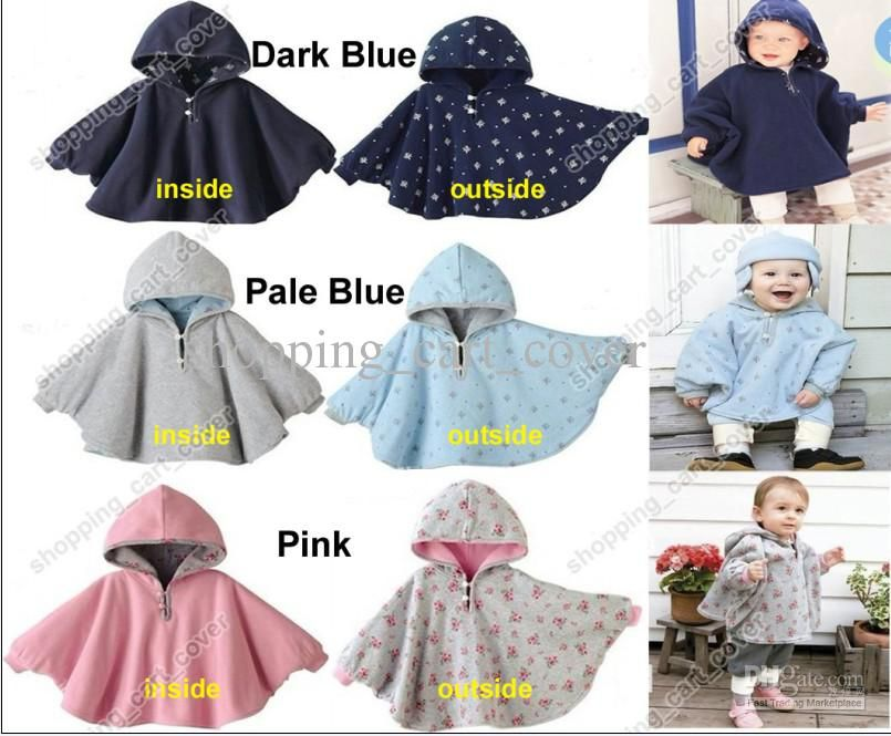 Newborn Baby Girl Hooded Cloak Poncho Jacket Outwear Kid Warm Coat Top Clothes v