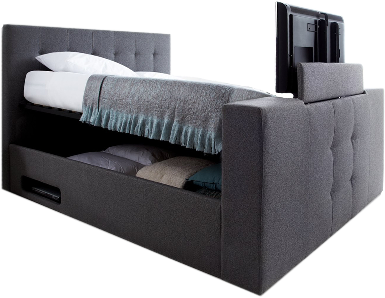 Groovy Dream Ottoman Tv Bed Available From Time4Sleep Co Uk Theyellowbook Wood Chair Design Ideas Theyellowbookinfo