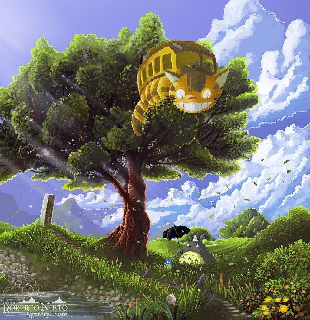 Totoro And Catbus By Syntetyc Deviantart Com On Deviantart