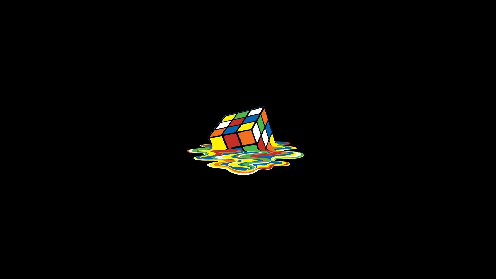 Hd Wallpaper Wallpapers Free Download Molten Rubik Cube