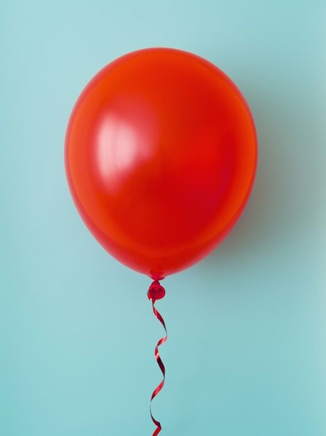 Download Red Balloon On Blue Background for free