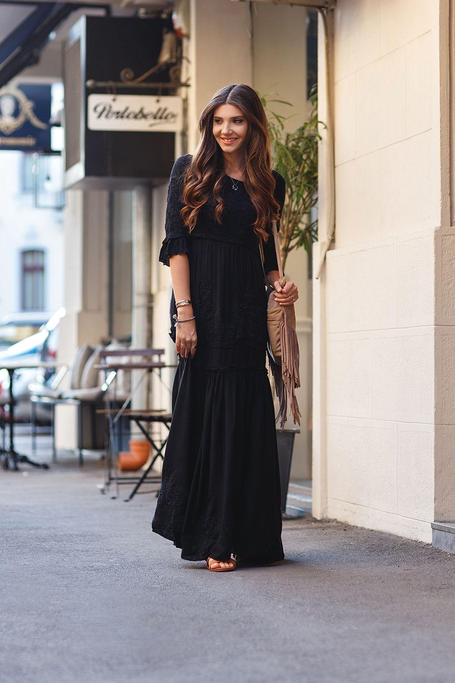 Bohemian Floor Length Dress
