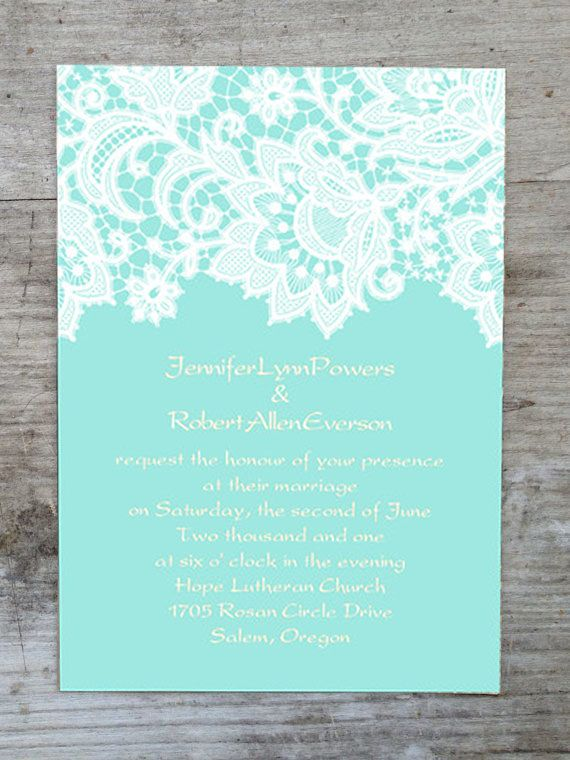 Seven Perfect Blue Wedding Color Ideas And Bridesmaid Dresses Wedding Invitations Diy Tiffany Blue Wedding Invitation Fun Wedding Invitations