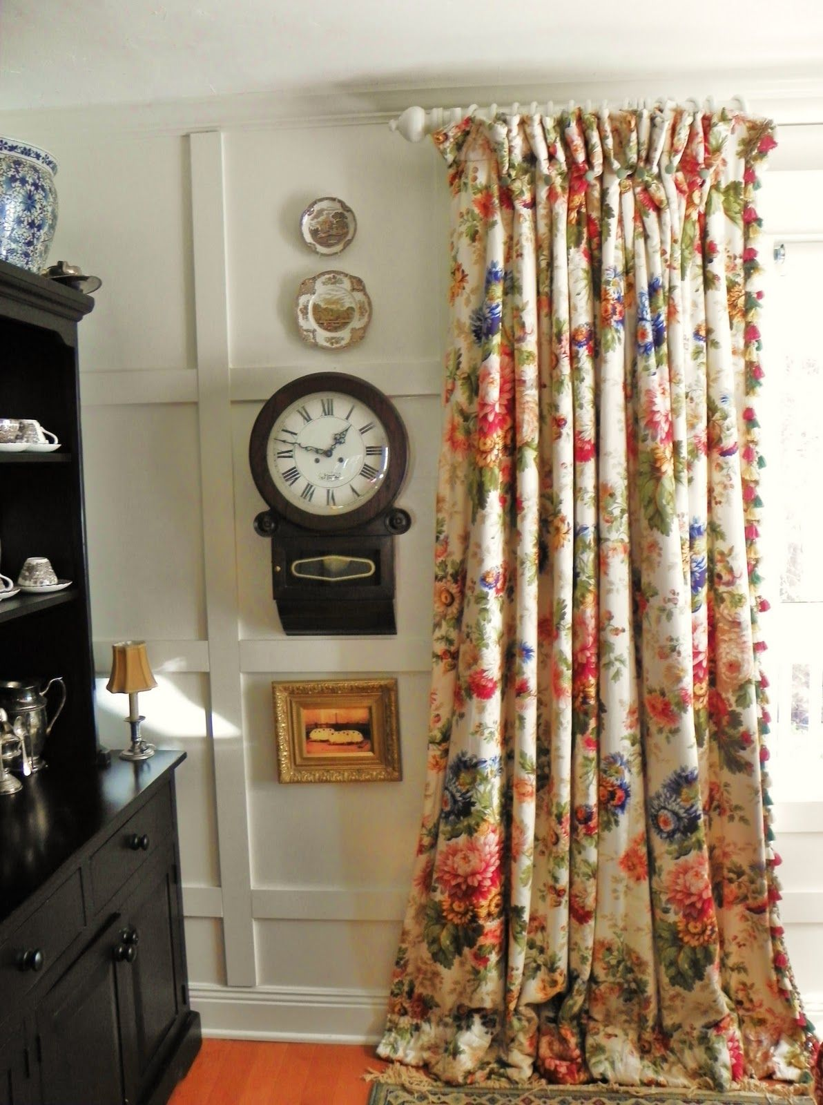 Jacobean Floral Floral Curtains Jewel Tone Window Curtains