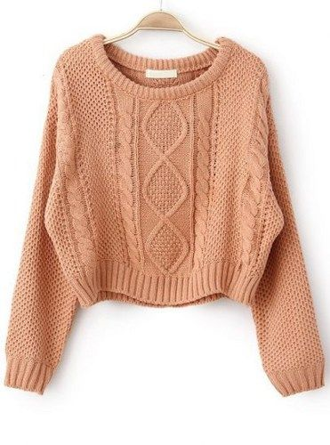 Fast Shipping World Wide Pink Long Sleeve Cable Knit Pullover Sweater   Fashion4you - Clothing on ArtFire