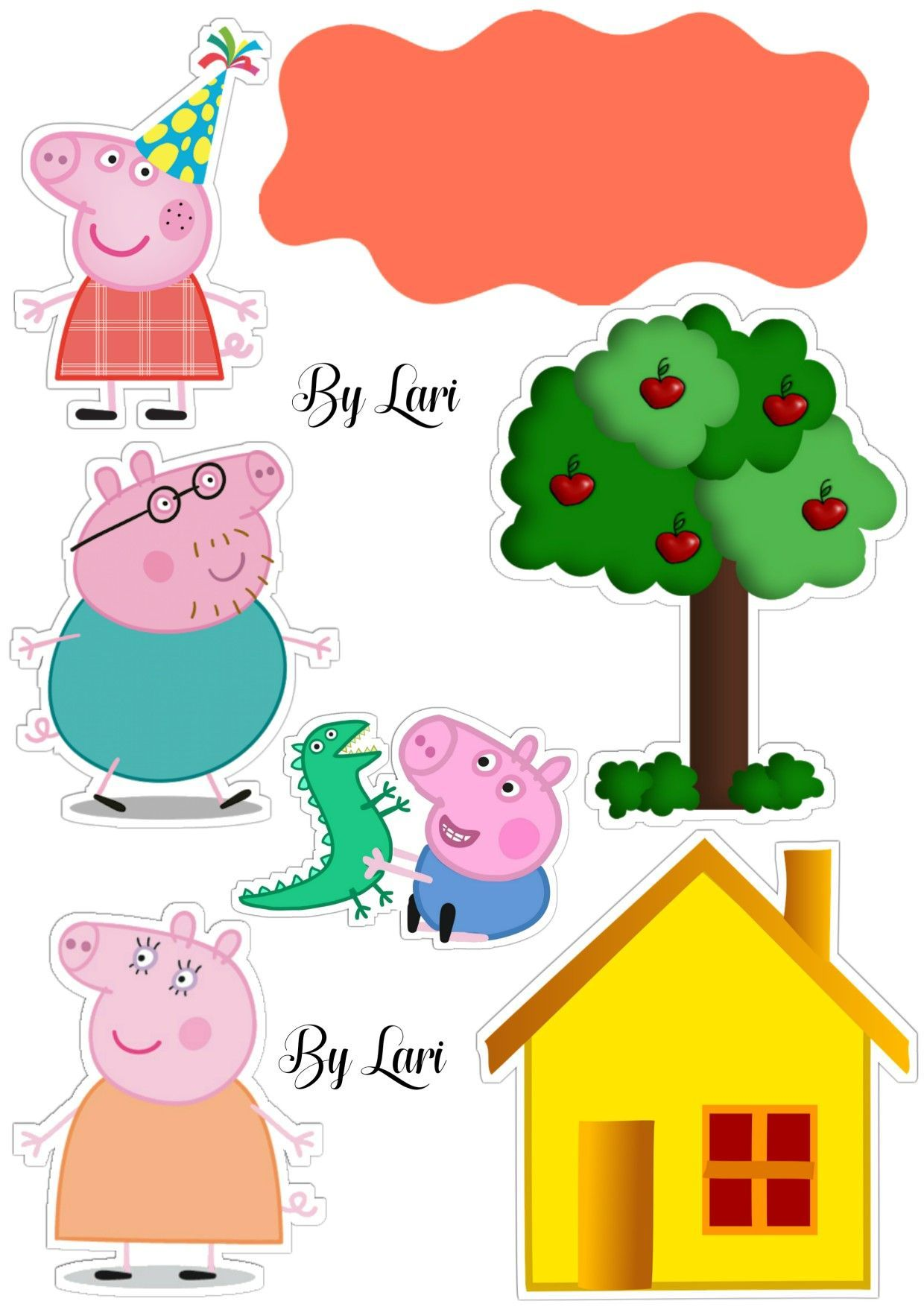 Topper Bolo Peppapig With Images Peppa Pig Birthday Party