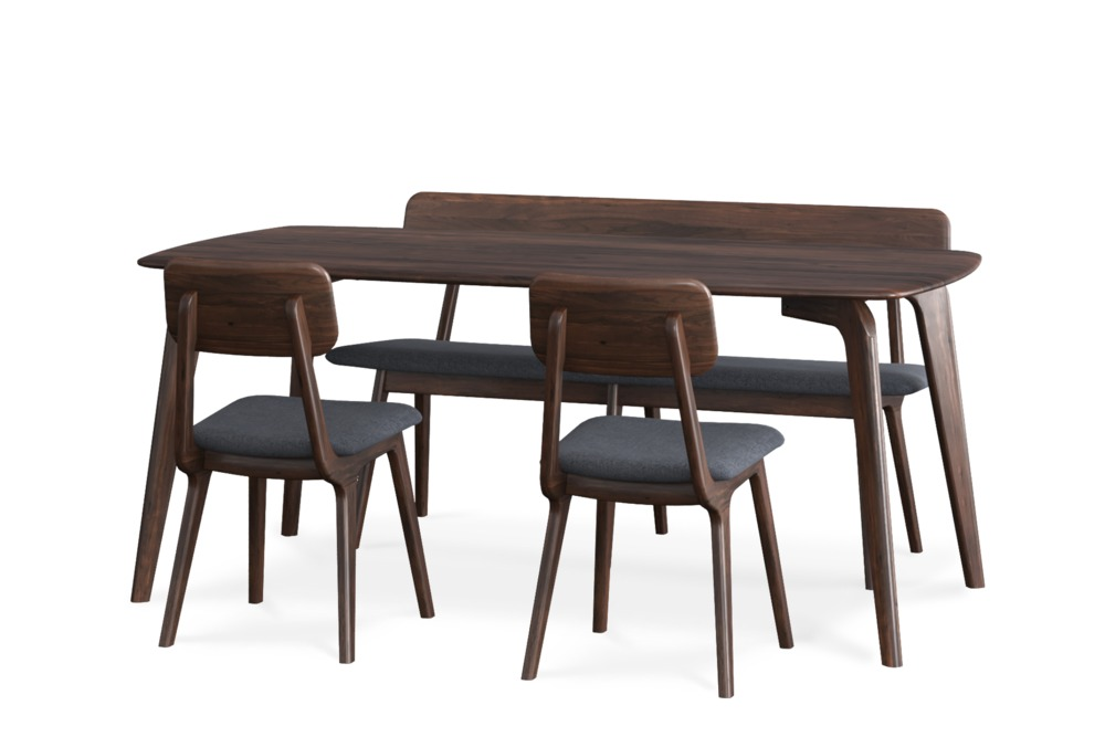 Vincent Dining Table With Bench And 2 Chairs Dining Table With