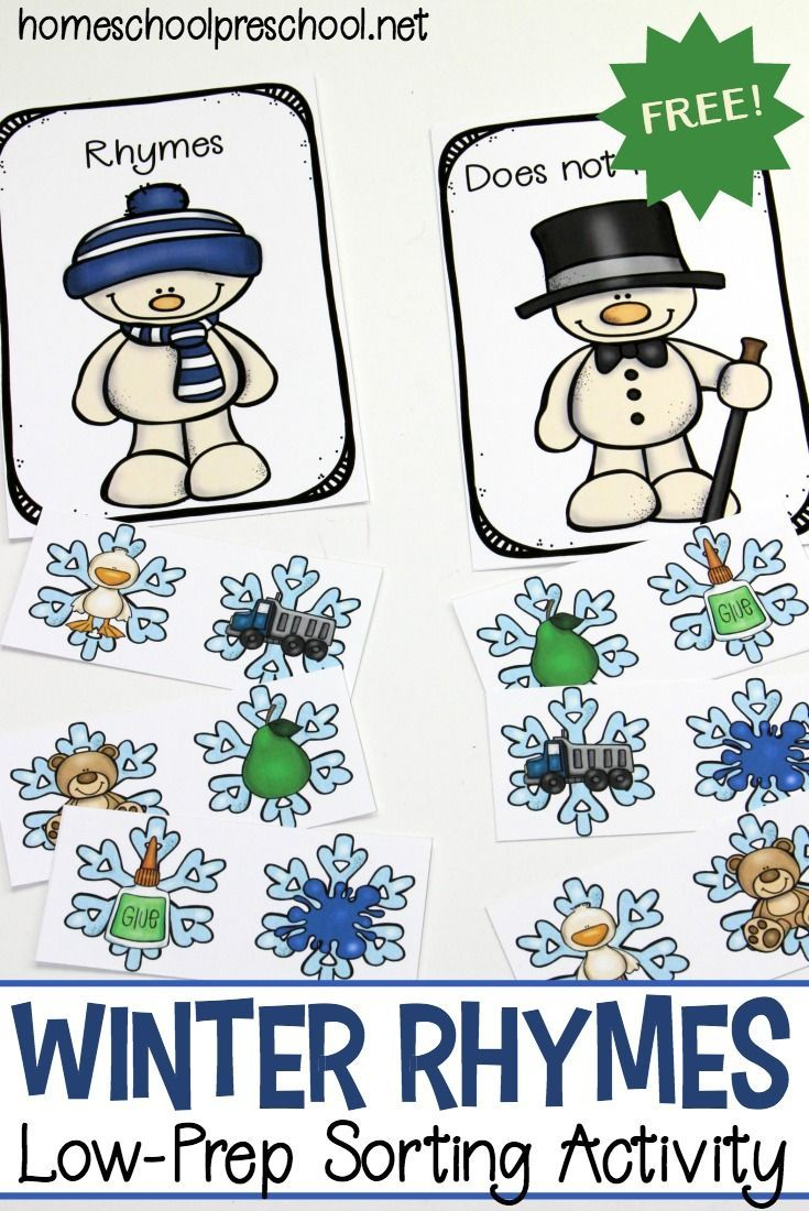 printable winter rhymes for preschoolers free educational printables rhyming kindergarten. Black Bedroom Furniture Sets. Home Design Ideas
