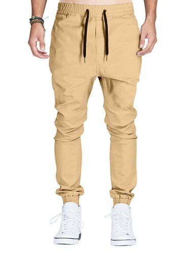 064c0e58977f Italy Morn Mens Casual Trousers Drop Crotch Joggers Chinos Sweatpants S  Khakis