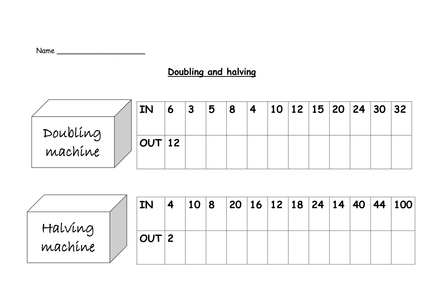 Doubles And Halves Worksheet Google Search Doubling And Halving Time Worksheets Worksheets
