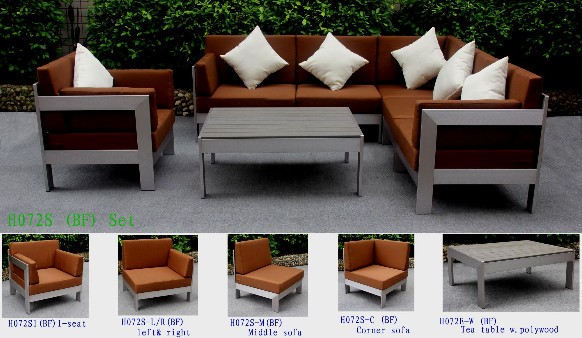 Left Sofa Size 810x700x700 Mm Middle 700x700x700 Corner Single