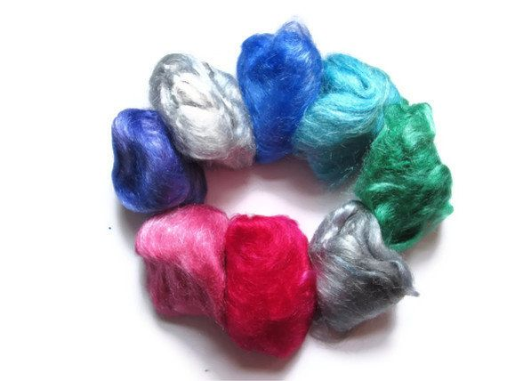 Hand Dyed Firestar   Eight Color Sampler by flickertailfibers, $12.00