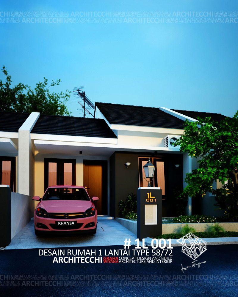 Desain Rumah Minimalis 1 Lantai Type 58 Arsitekdesainrumah Desainrumahsiapbangun Archit