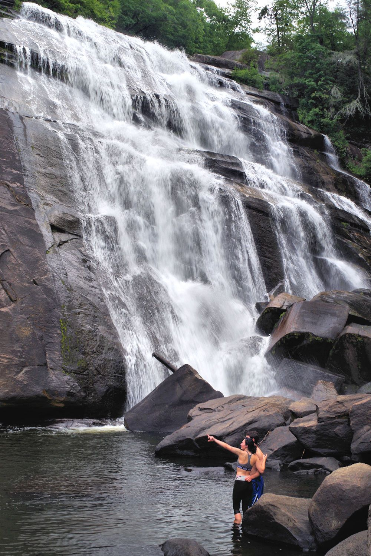 mountains waterfalls forest usa - photo #49