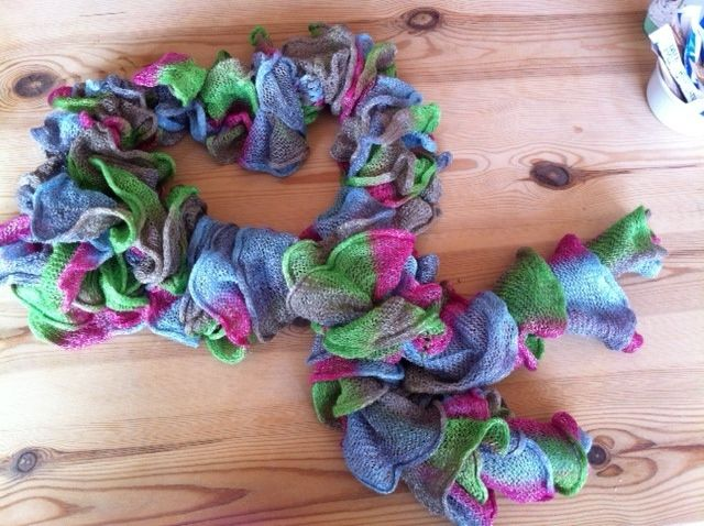 Katia Bossa Nova scarf knitted in just a few hours! I adore the ...