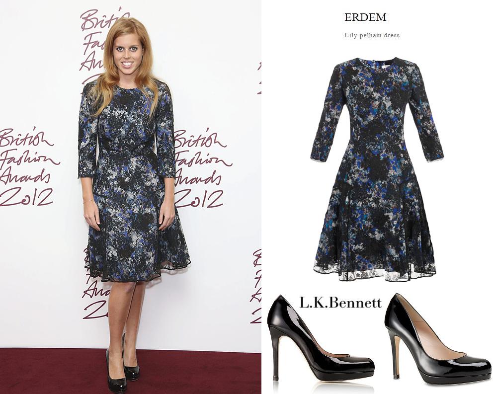 "British Fashion Awards ""PRINCESSE BEATRICE D'YORK"""